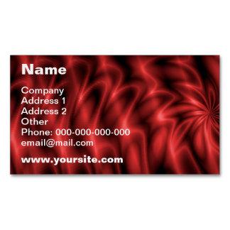 Remolino rojo tarjetas de visita magnéticas (paquete de 25)