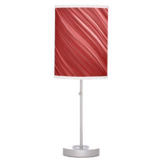 Remolino rojo y blanco moderno lámpara de escritorio