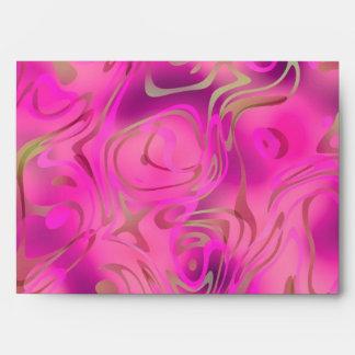 Remolino rosado brillante del oro del sobre