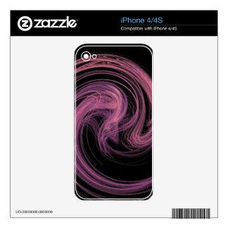 remolino rosado calcomanías para el iPhone 4S