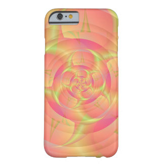 Remolino rosado funda para iPhone 6 barely there
