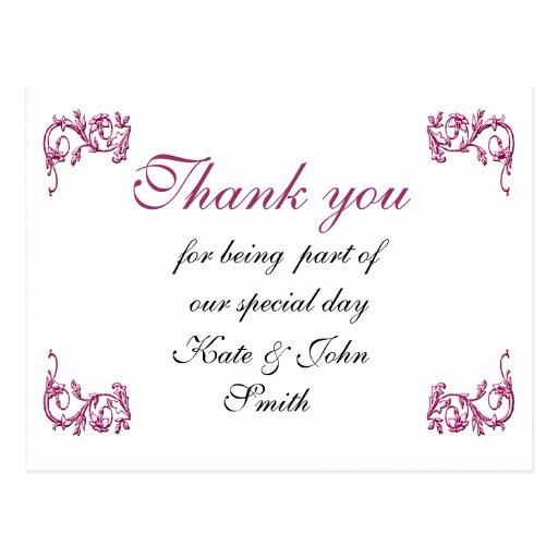 Remolino rosado púrpura - gracias observar tarjeta postal