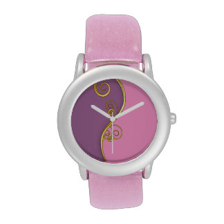 Remolino Rosado-Púrpura Relojes De Pulsera