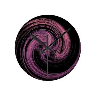 remolino rosado reloj redondo mediano