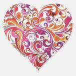 Remolino sentido pegatinas corazon personalizadas