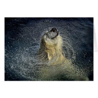 Remolino sonriente del agua del oso polar tarjeta de felicitación