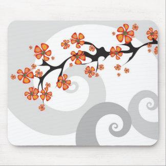 Remolino tropical Mousepad de la fusión de la flor Tapete De Ratón