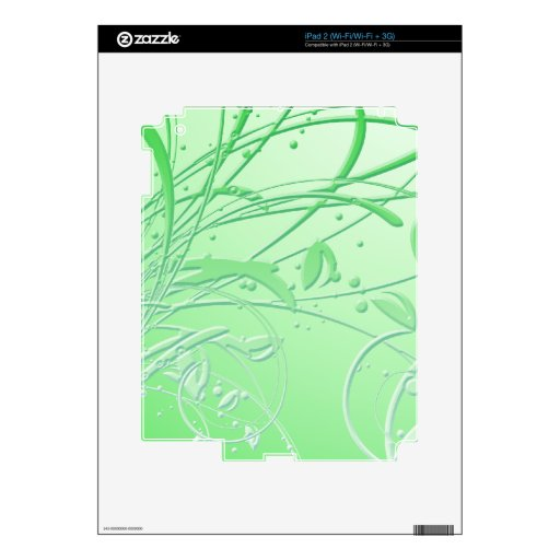 Remolino verde abstracto skin para el iPad 2