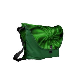 Remolino verde bolsa de mensajeria