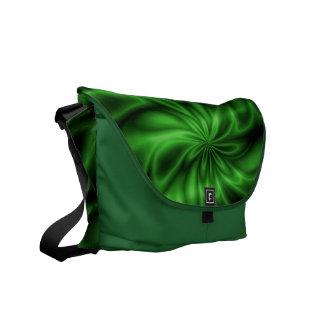 Remolino verde bolsa de mensajería