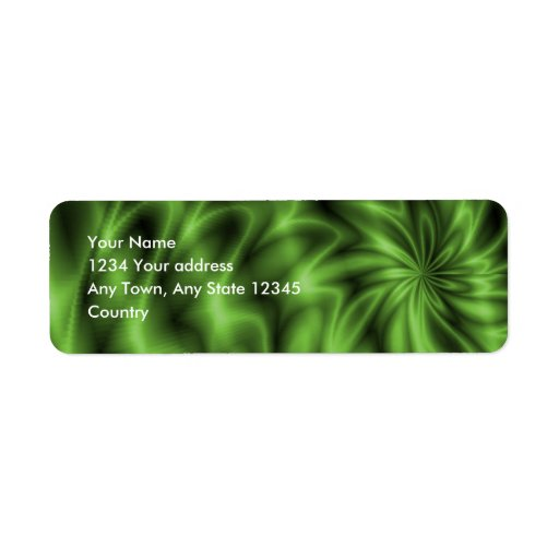 Remolino verde etiquetas de remite