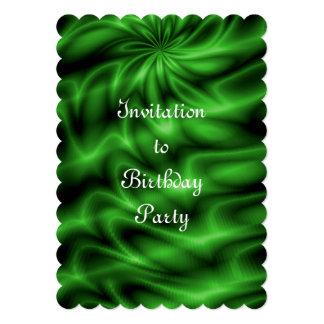 """Remolino verde invitación 5"""" x 7"""""""