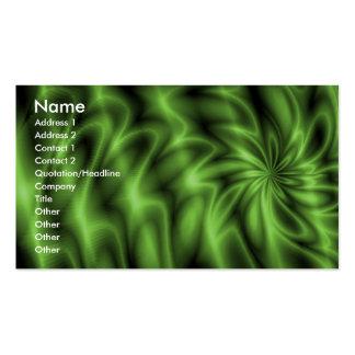 Remolino verde tarjetas de visita
