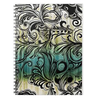 Remolino y rizo cuaderno