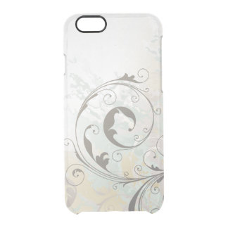 Remolinos abstractos de la plata de la fantasía funda clear para iPhone 6/6S