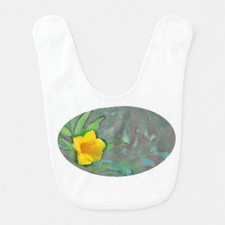 remolinos amarillos del extracto de la flor baberos para bebé