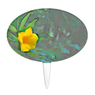 remolinos amarillos del extracto de la flor figura de tarta