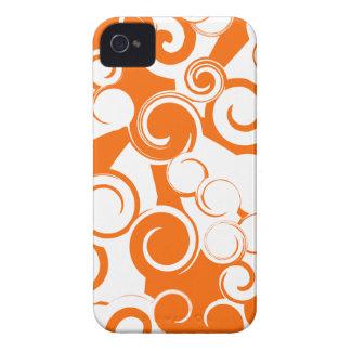 Remolinos anaranjados (caso del iPhone 4/4s) Case-Mate iPhone 4 Cárcasas