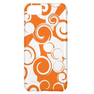 Remolinos anaranjados (caso del iPhone 5) Funda Para iPhone 5C