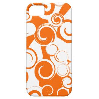 Remolinos anaranjados (caso del iPhone 5) iPhone 5 Fundas