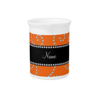 Remolinos anaranjados conocidos personalizados del jarrones