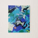 Remolinos azules del mar puzzle con fotos