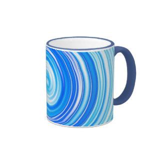 Remolinos azules taza de dos colores