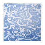 Remolinos azules tejas  cerámicas