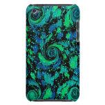 Remolinos azules y verdes abstractos Case-Mate iPod touch protector