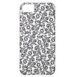 remolinos blancos y negros de iphone4- cover for iPhone 5C