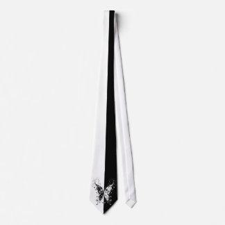 Remolinos blancos y negros elegantes hermosos de corbata