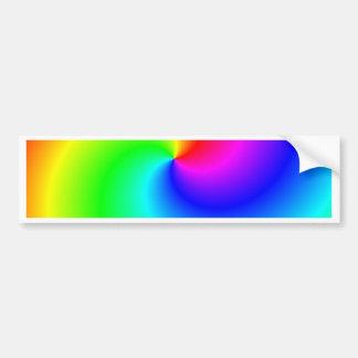 Remolinos brillantes del arco iris pegatina de parachoque