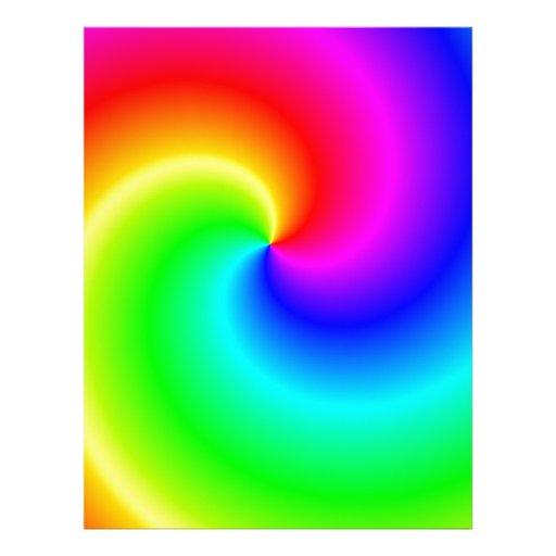 Remolinos brillantes del arco iris membretes personalizados