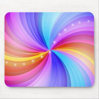 Remolinos brillantes del color Mousepad