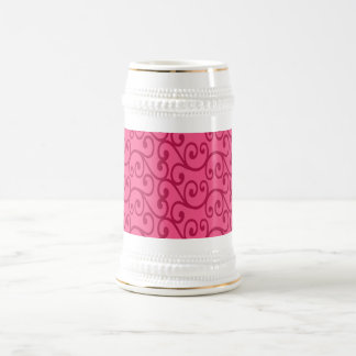 Remolinos brillantes del rosa taza