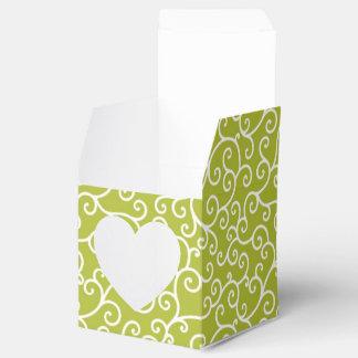 Remolinos caprichosos de la cal y del blanco cajas para regalos de boda