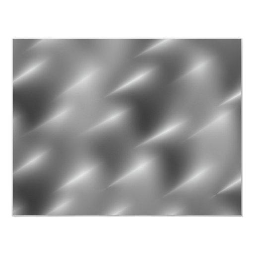 """remolinos cepillados del metal invitación 4.25"""" x 5.5"""""""
