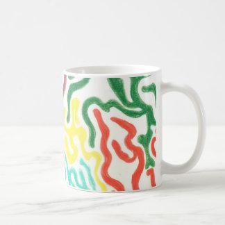 Remolinos coloreados del lápiz tazas de café
