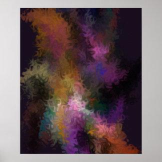 Remolinos coloridos abstractos del arte póster
