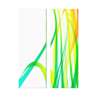 Remolinos coloridos abstractos modernos impresión en lona estirada