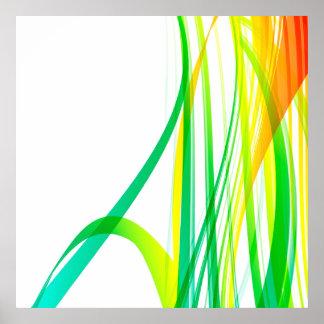 Remolinos coloridos abstractos modernos posters