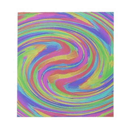 remolinos coloridos bloc de papel