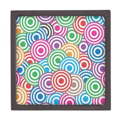 Remolinos coloridos cajas de recuerdo de calidad