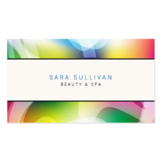 Remolinos coloridos de la tarjeta de visita del