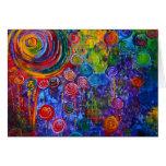 Remolinos coloridos del caramelo del arco iris tarjetas