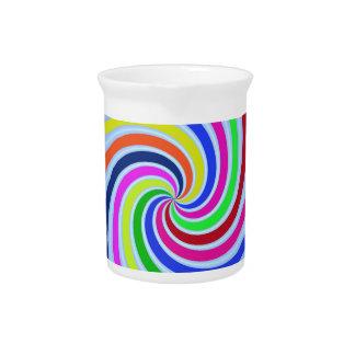 Remolinos coloridos jarrón