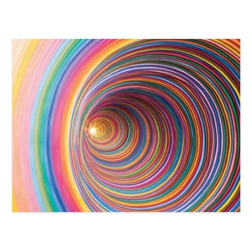 Remolinos coloridos tarjeta postal