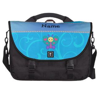 Remolinos conocidos personalizados del azul de la  bolsas de portatil