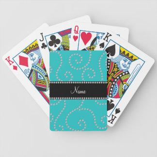 Remolinos conocidos personalizados del diamante de baraja cartas de poker