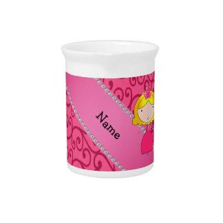 Remolinos conocidos personalizados del rosa de la  jarrón